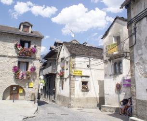Casa tradicional a la entrada del Parque Nacional de Ordesa y Monte Perdido