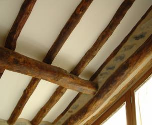 Detalle techo en madera