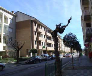 Vista general de la fachada y calle principal